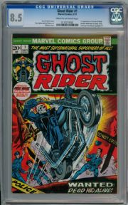 Ghost Rider #1 First Print (1973) CGC 8.5 Marvel comic book
